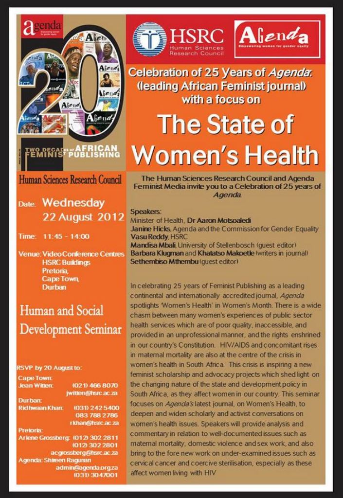 Feminist Dialogue Invitation: The State of Women's Health