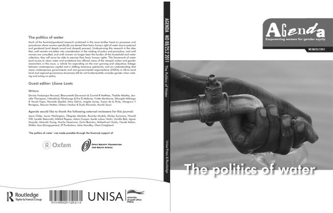 Agenda Journal No. 88: The politics of water
