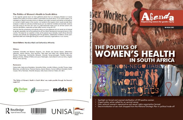 Agenda Journal: Volume 26, Issue 2, 2012 Special Issue: The Politics of Women's Health in South Africa