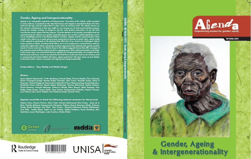 Agenda Journal: Volume 26, Issue 4, 2012: Gender, Ageing and Intergenerationality